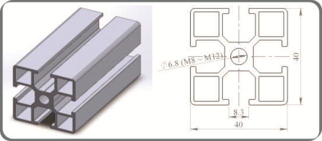 nhôm định hình 40x40R1