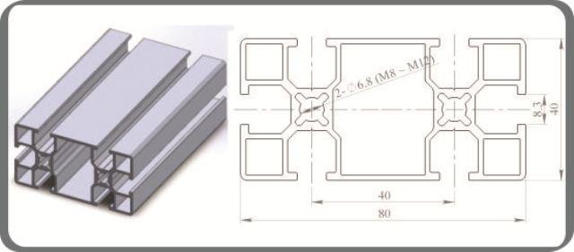 Nhôm định hình 40x80R1