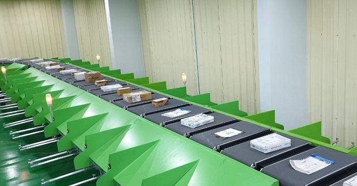 Hệ thống phân loại bưu kiện tự động