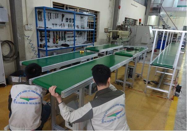 Hệ thống băng tải linh kiện điện tử cho nhà máy