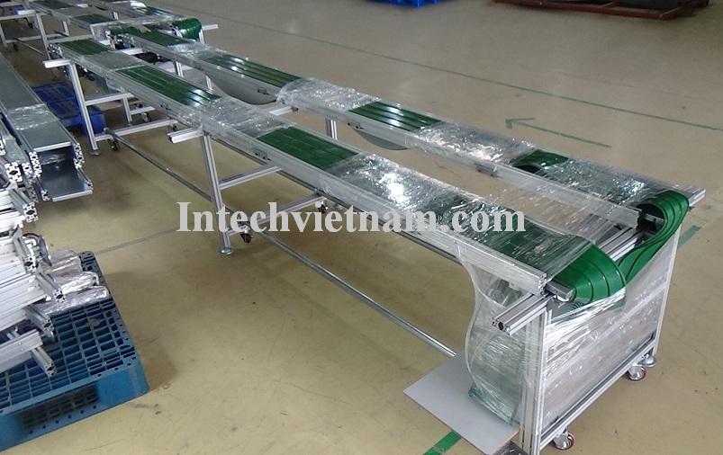 Băng tải đôi dán gân PVC