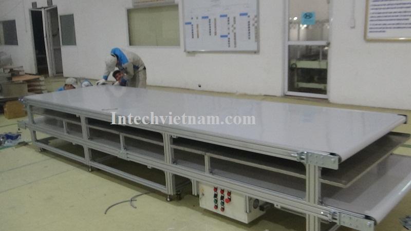 Băng tải PVC 2 tầng