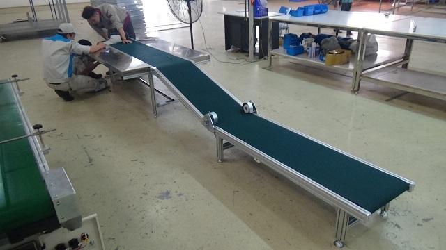 Băng tải PVC gấp khúc