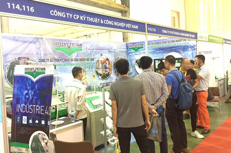 Intech mang đến hội chợ hệ thống băng tải thông minh