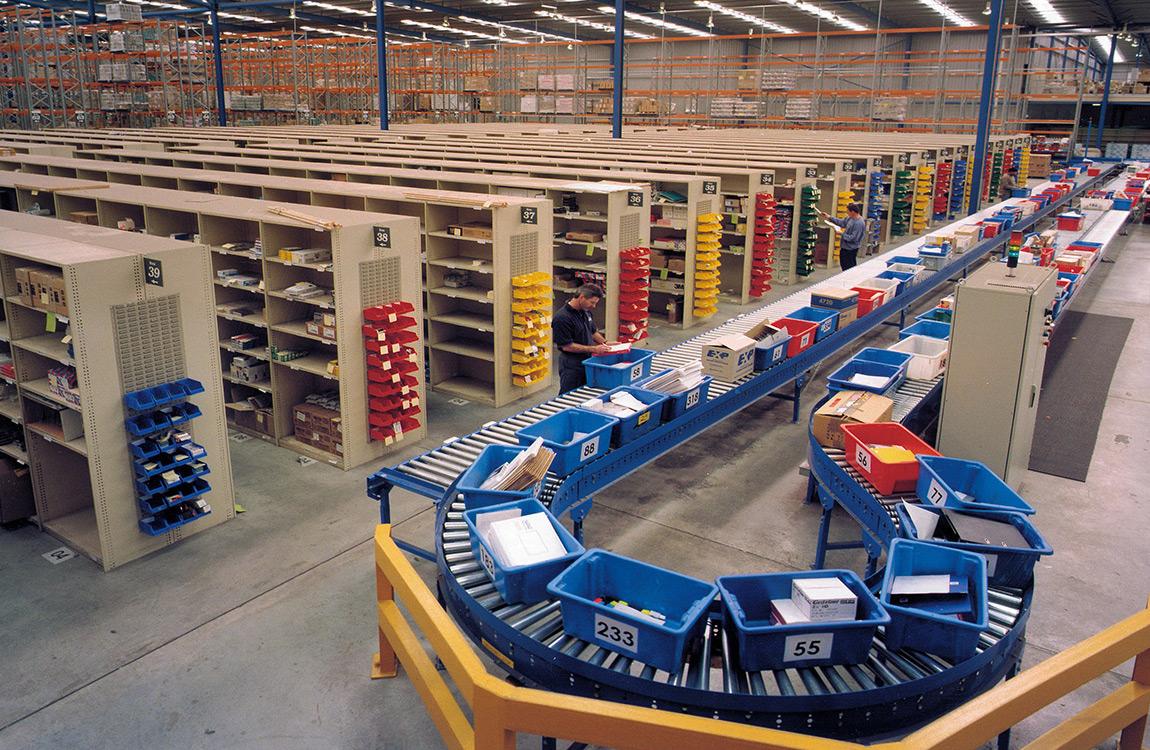 Hệ thống băng tải kho hàng