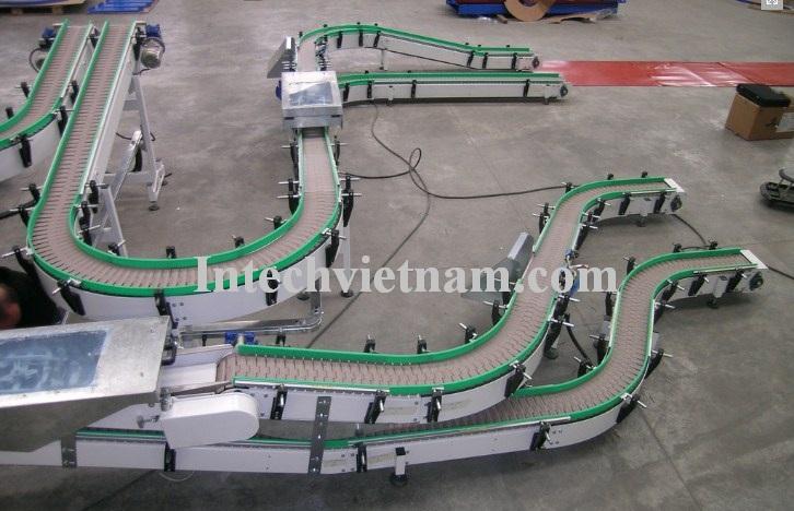 Hệ thống băng tải xích nhựa