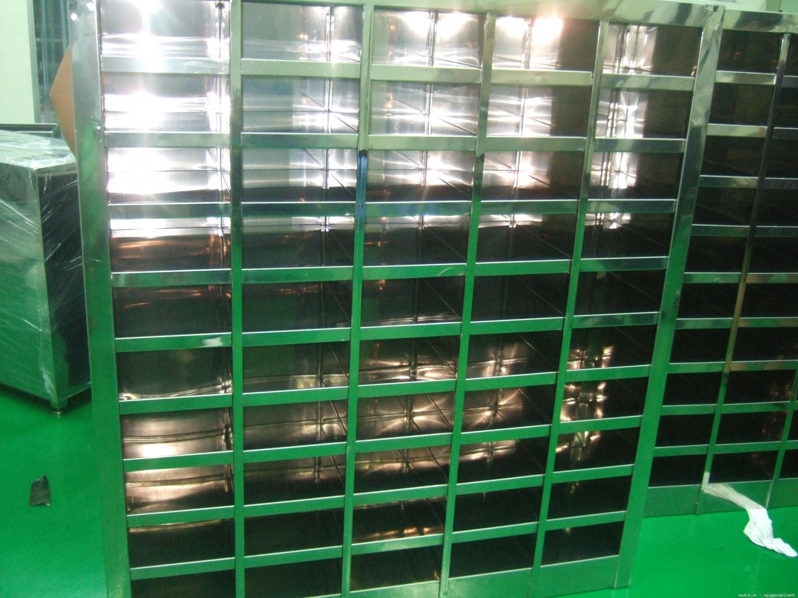 Tủ Inox để giầy phòng sạch